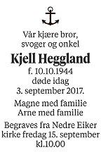 Kjell Heggland Dødsannonse