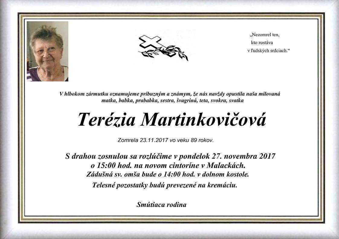 Terézia Martinkovičová Parte