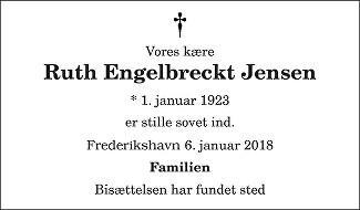 Ruth Marie  Jensen Death notice