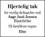 Aage Juul  Jensen Death notice