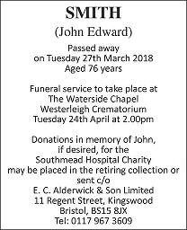 John Edward Smith Death notice