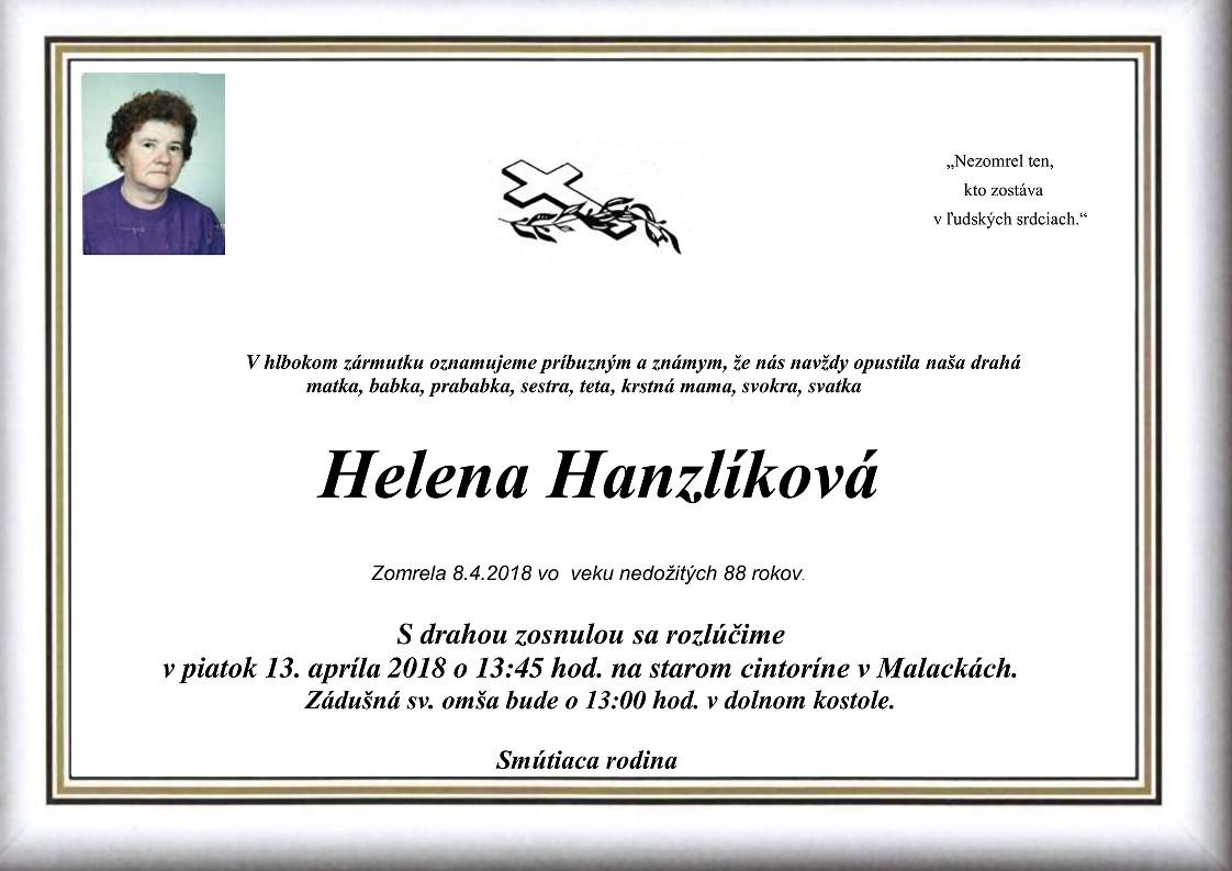 Helena Hanzlíková Parte