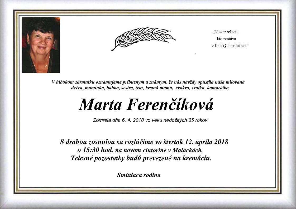 Marta Ferenčíková Parte