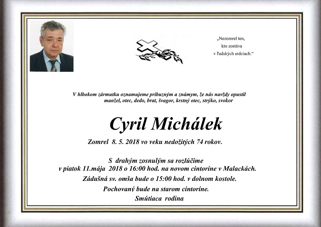 Cyril Michálek Parte