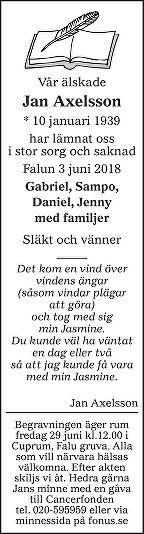 Jan Axelsson Dödsannons
