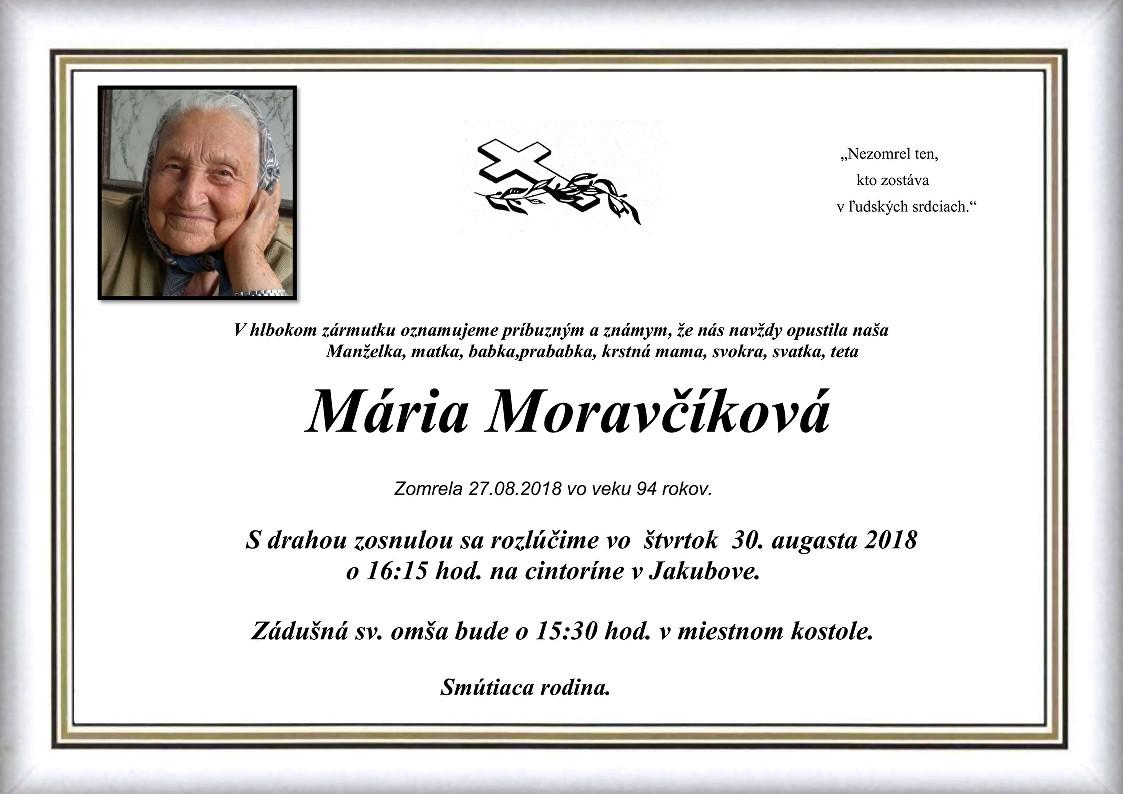 Mária Moravčíková Parte