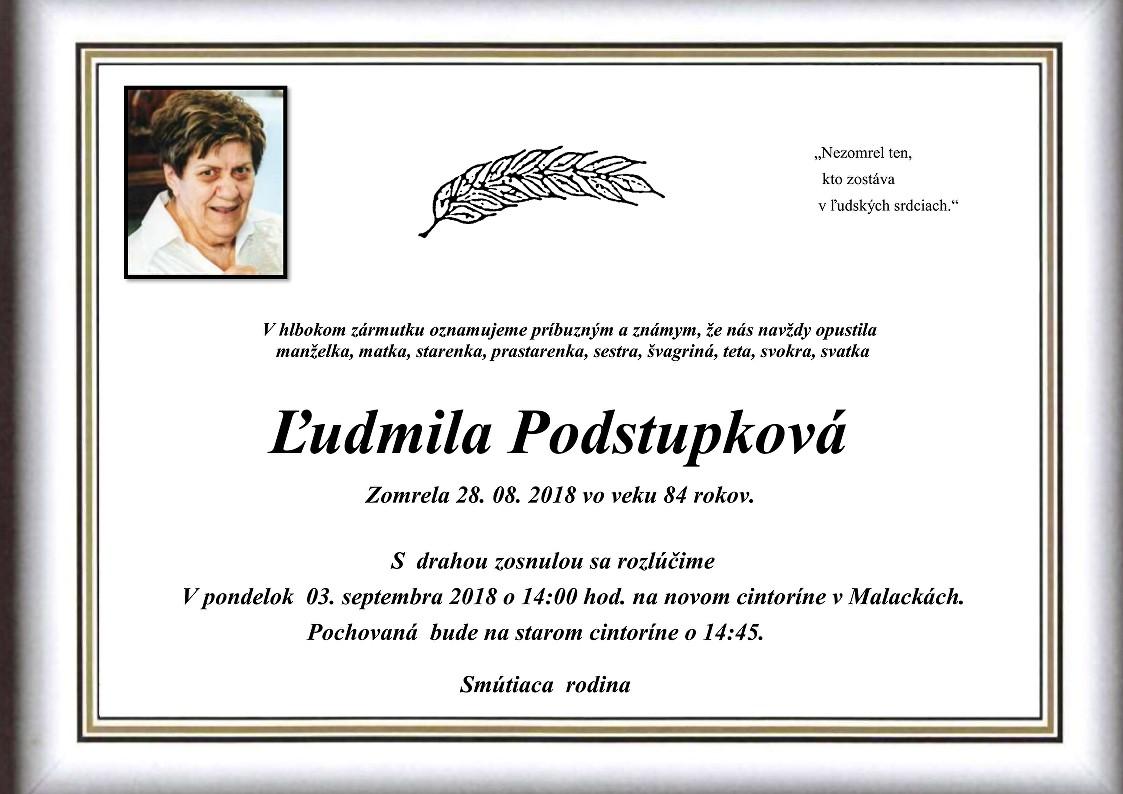 Ľudmila  Podstupková Parte
