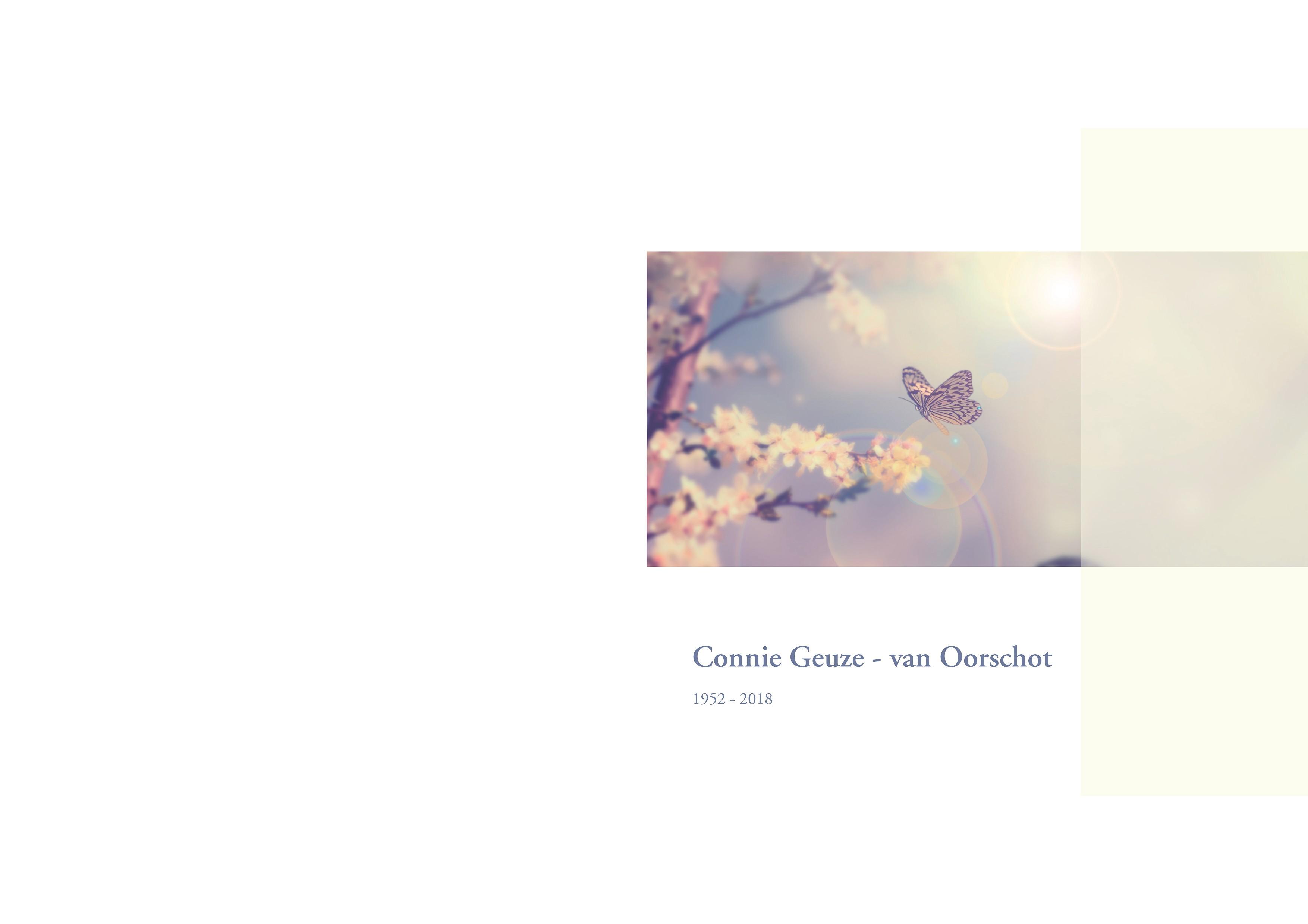 Connie Geuze - van Oorschot Death notice