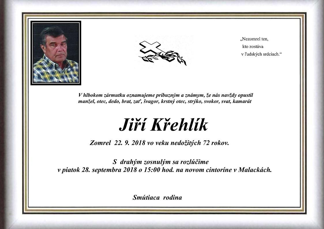 Jiří  Křehlík Parte