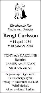Bengt Carlsson Death notice