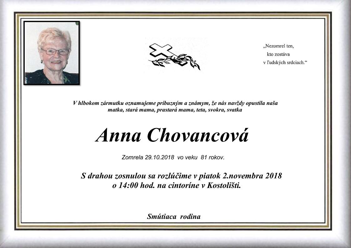 Anna Chovancová Parte