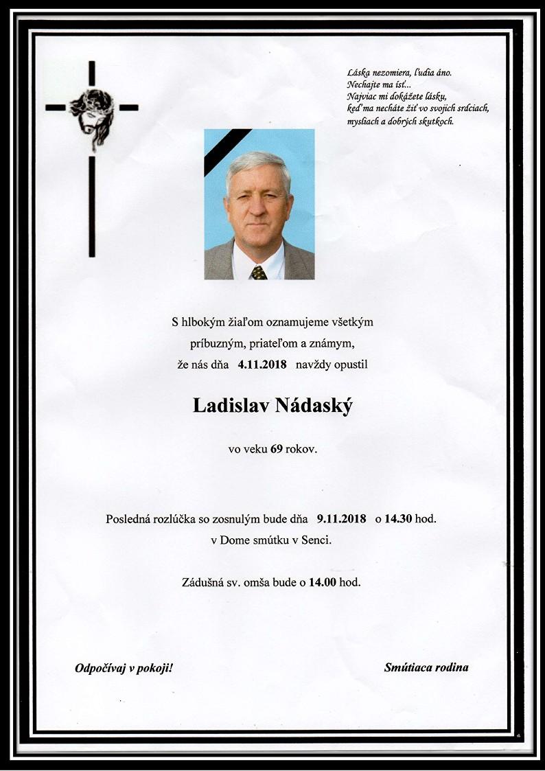 Ladislav Nádaský  Parte