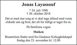 Jonas  Layassouf Death notice