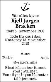Kjell Jørgen  Brakken Dødsannonse