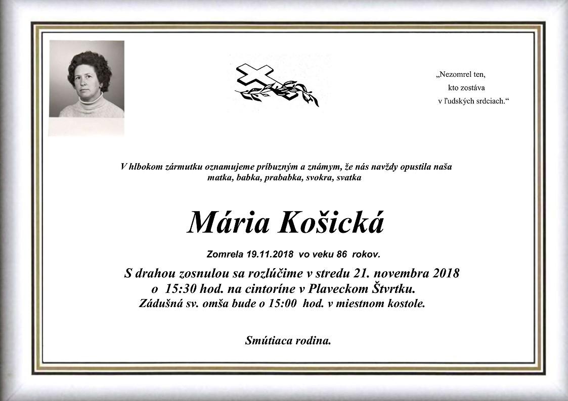 Mária Košická Parte