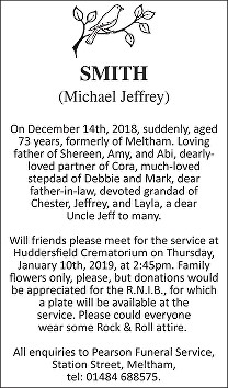 Michael Jeffrey Smith Death notice