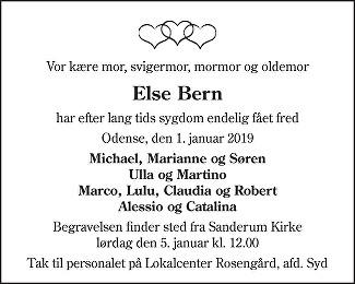 Else  Bern Death notice