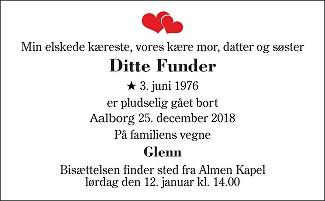 Ditte  Funder Death notice