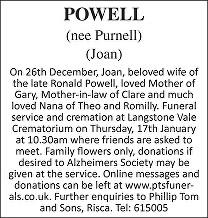 Joan Powell Death notice