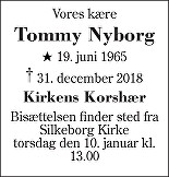 Tommy Nyborg Death notice