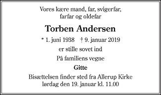 Torben Freddy  Andersen Death notice