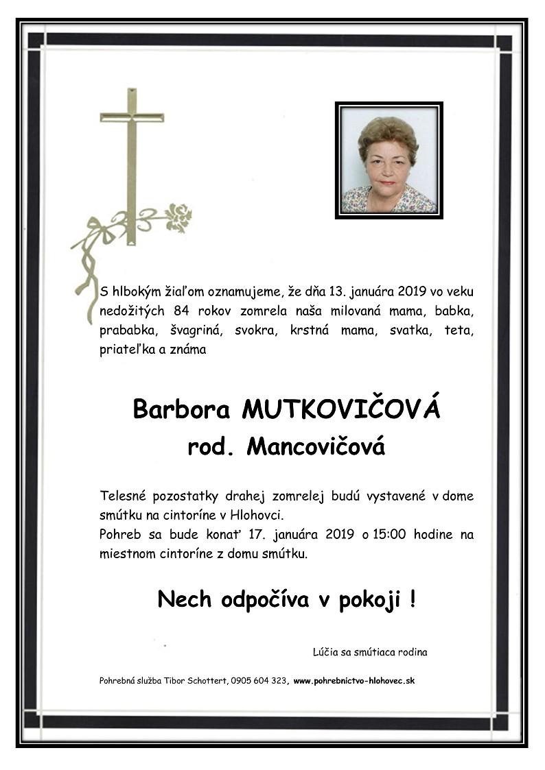 Barbora Mutkovičová Parte