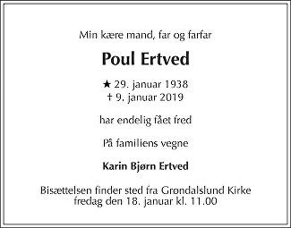 Poul  Ertved Death notice