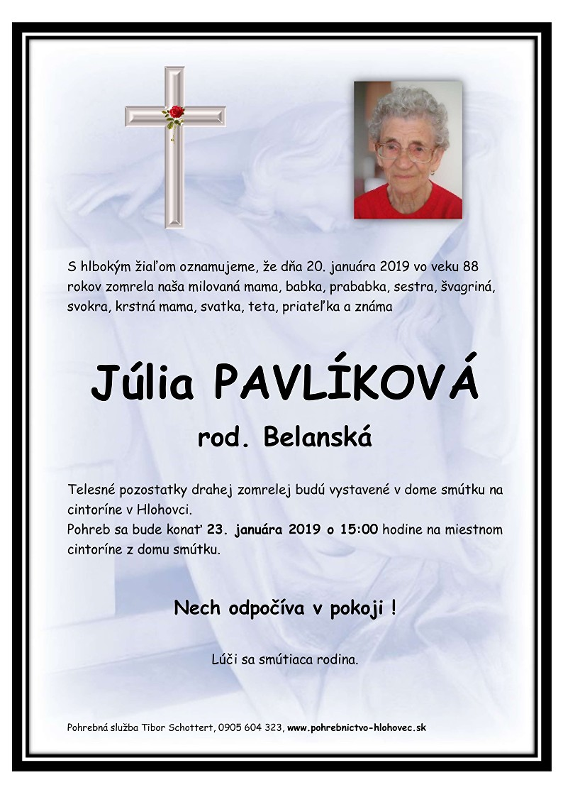 Júlia Pavlíková Parte