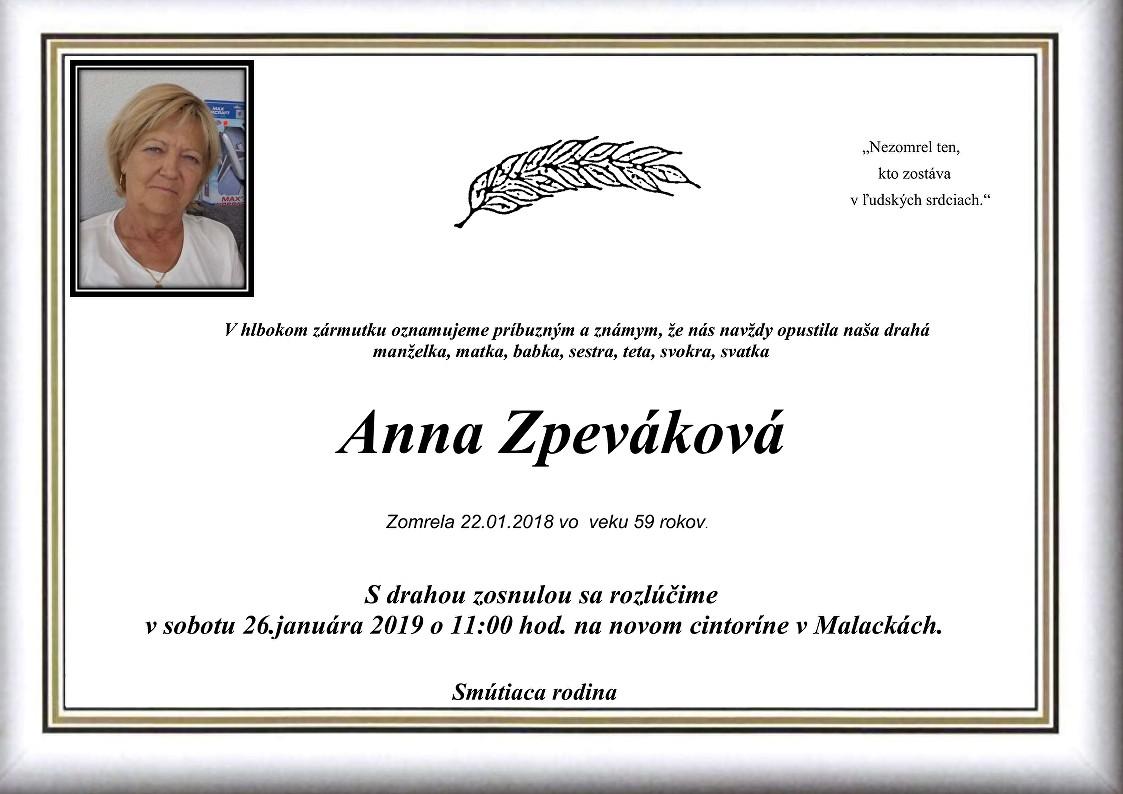 Anna Zpeváková Parte