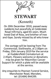 Kenneth Stewart Death notice