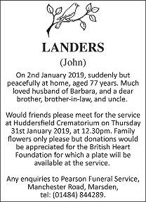 John Landers Death notice