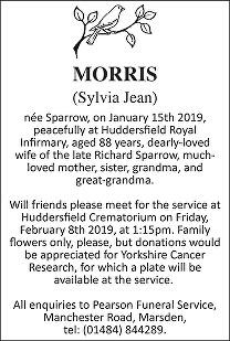 Sylvia Jean Morris Death notice