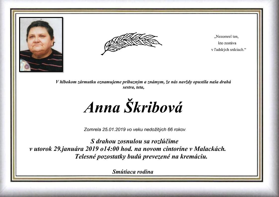 Anna Škribová Parte