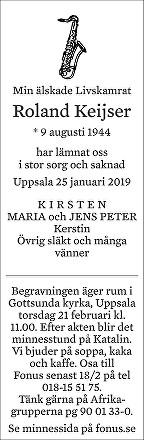 Roland Keijser Death notice