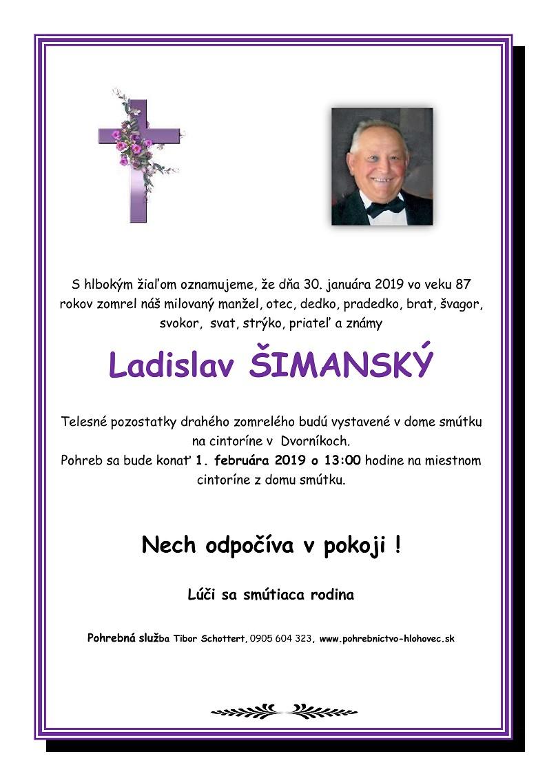 Ladislav Šimanský Parte