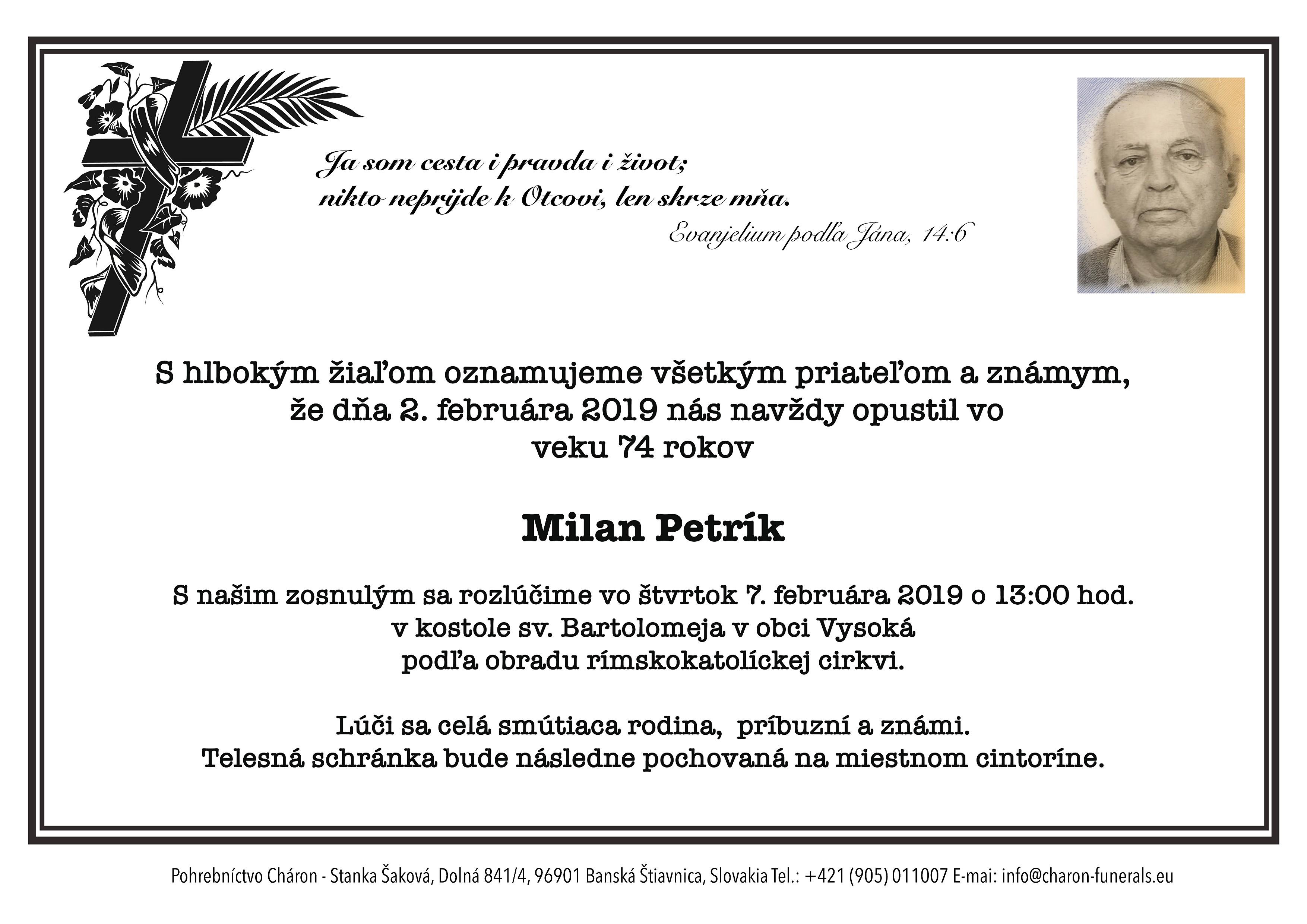 Milan Petrík Parte