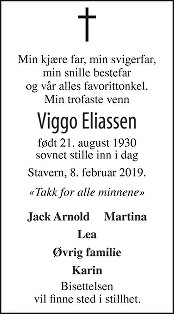 Viggo Eliassen Dødsannonse