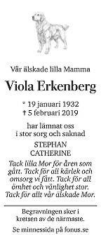Viola Erkenberg Death notice