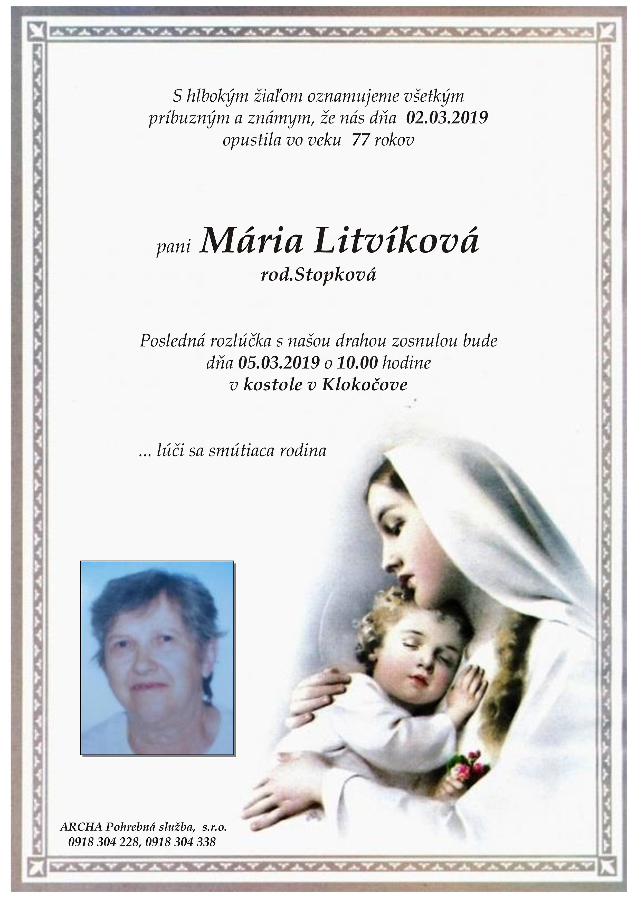 Mária Litvíková Parte