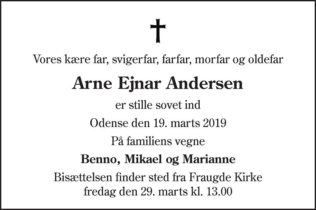 Arne Ejnar  Andersen Death notice