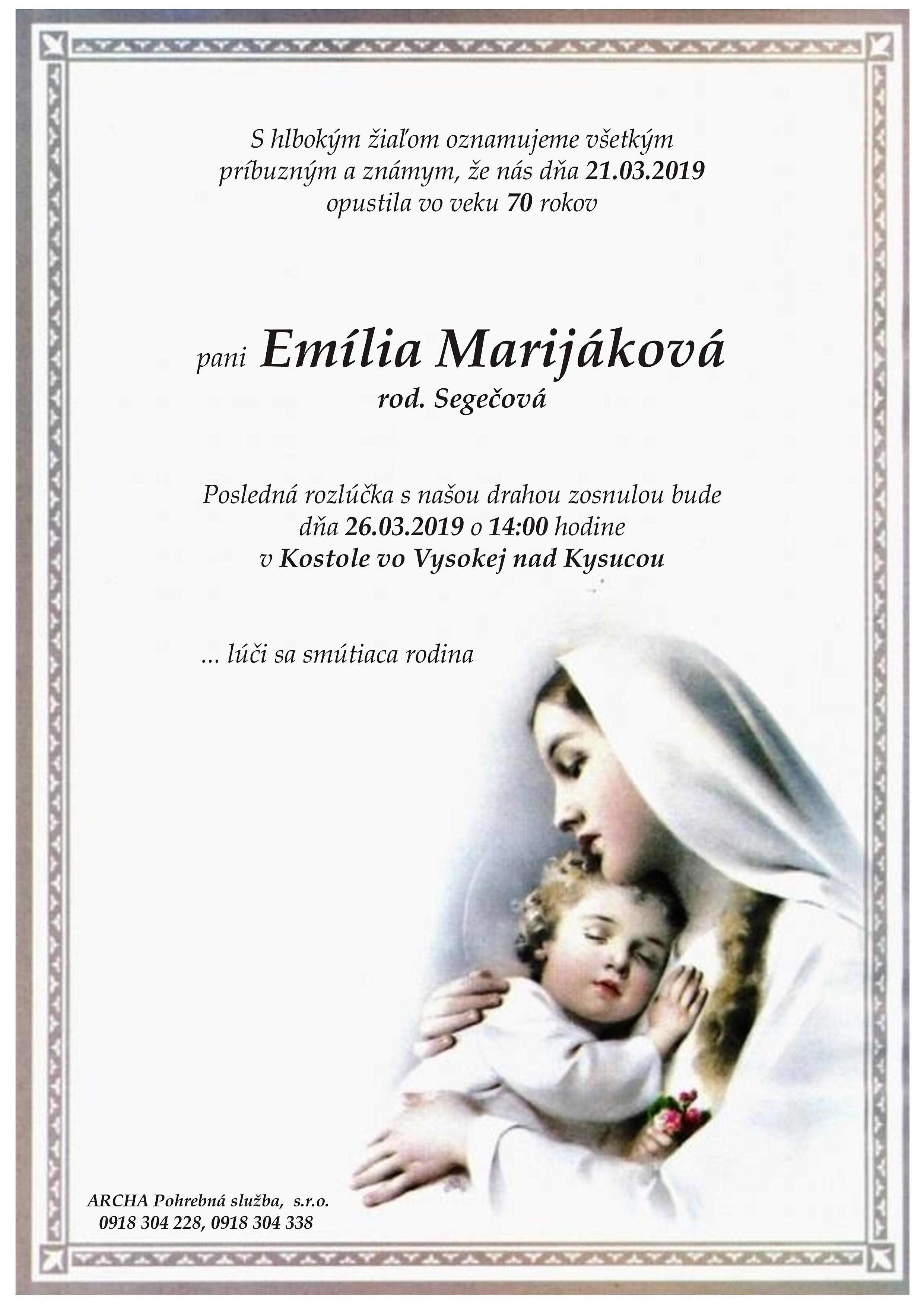 Emília Marijáková Parte