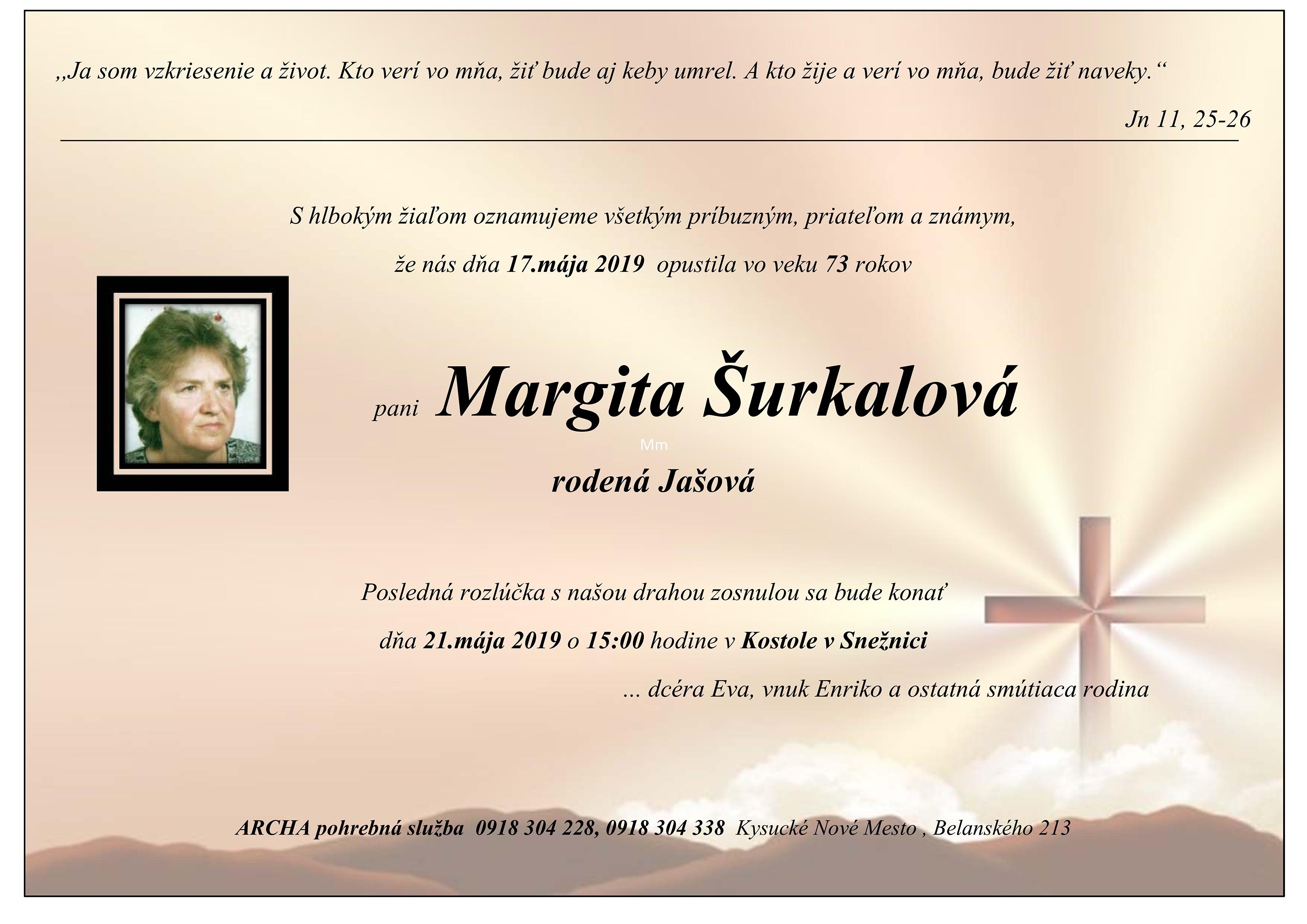 Margita Šurkalová Parte