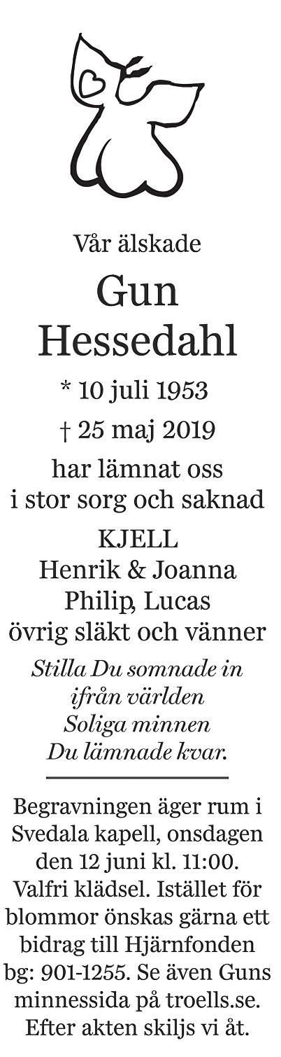 Gun Hessedahl Death notice