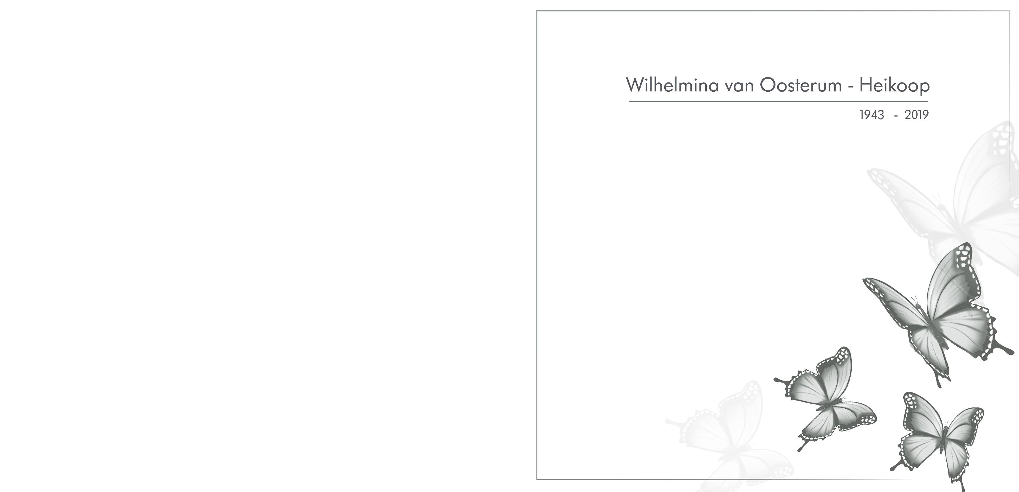 Wil van Oosterum - Heikoop Death notice