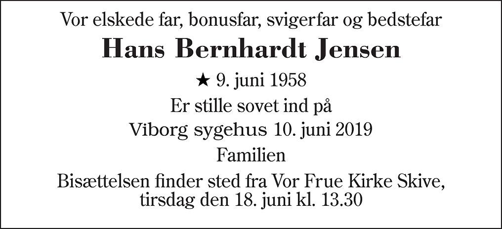 Hans Bernhardt  Jensen Death notice