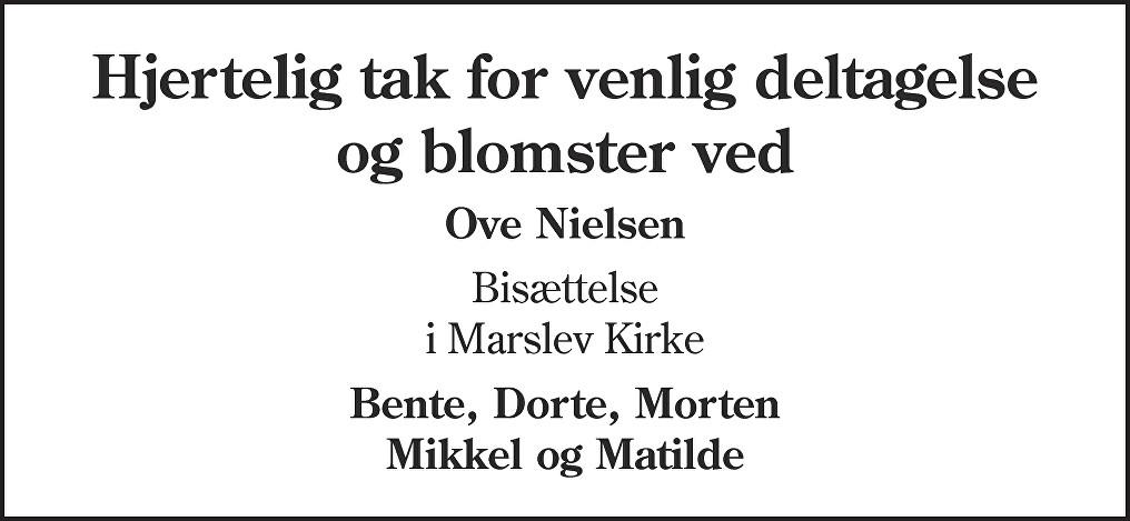 Ove  Nielsen Death notice