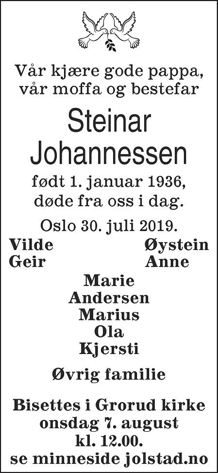 Håkon Steinar Engh Johannessen Dødsannonse