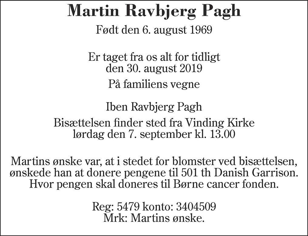 Martin Ravbjerg  Pagh Death notice