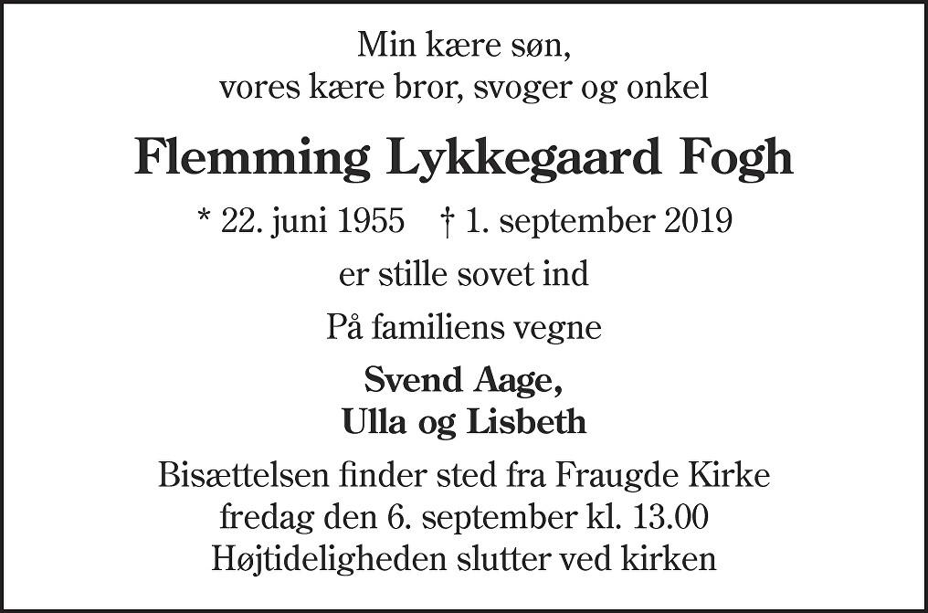 Flemming Lykkegaard  Fogh Death notice