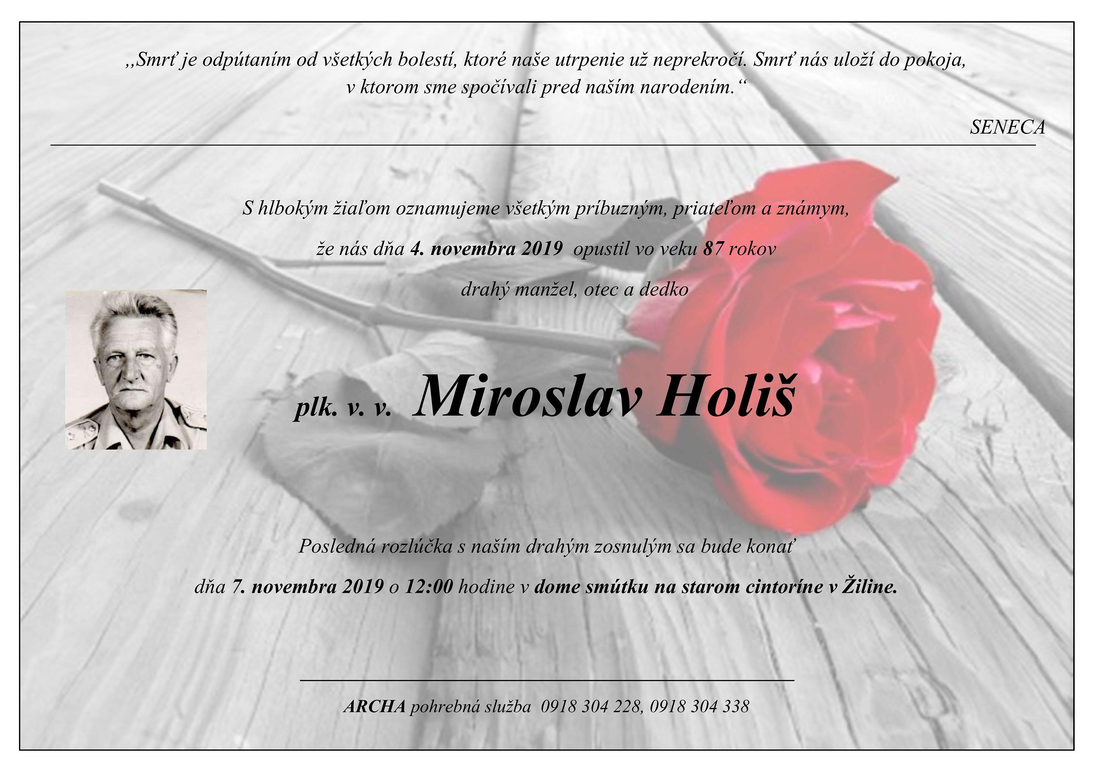plk. v. v. Miroslav Holiš Parte